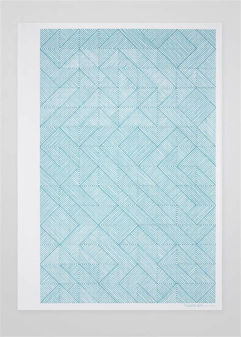 pattern design agency graphic artworks on an a4 sheet of graph paper