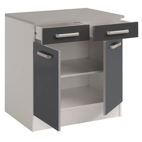meubles bas cuisine meuble bas de cuisine contemporain 80 cm 2 portes 2