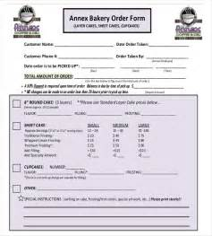 bakery order form template 19 bakery order templates free sle exle format