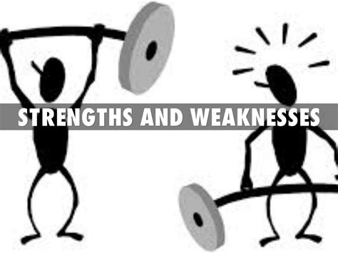 strengths and weakness strengths and weaknesses clipart