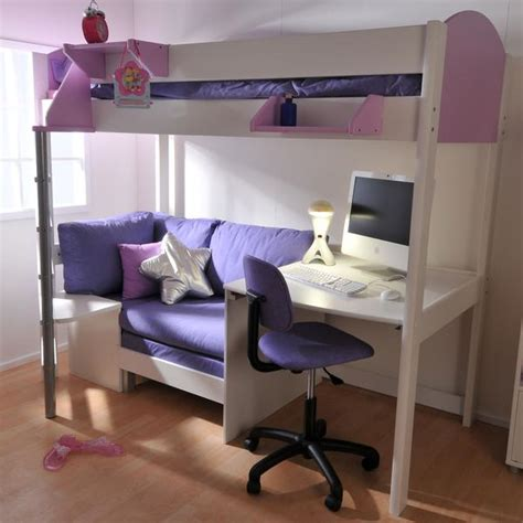 High Sleeper With Futon And Desk by High Sleeper Loft Beds With Sofabed Futon Sofa Desk