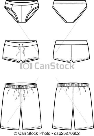 swimming illustrations and clipart can stock photo vector illustration of men s swimming trunks front and