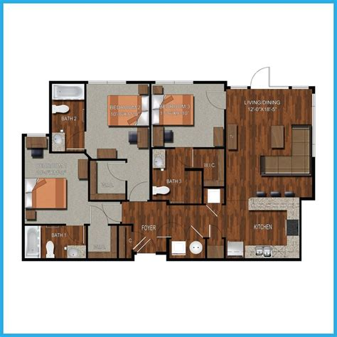 3 bedroom apartments college station 9 best college station apartment floorplans images on