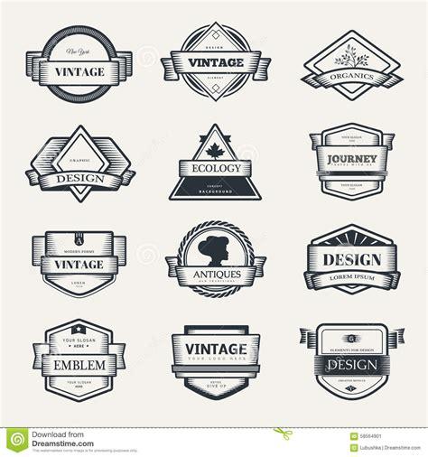vintage classic design label elements vector design logo elements template stock vector image
