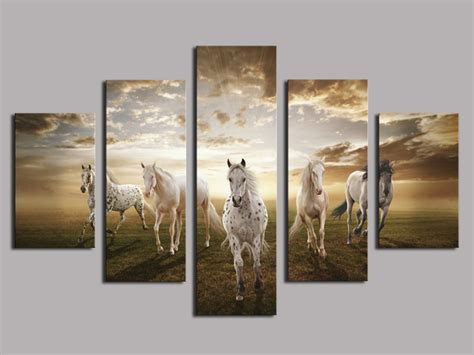 home decor cheap prices high quality cheap price art pictures running horse large