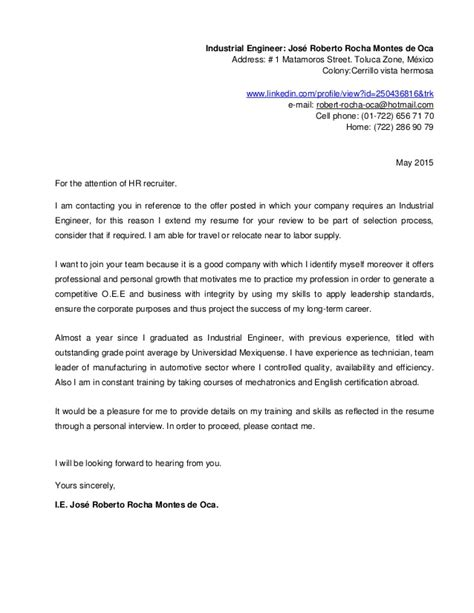 Motivation Letter Robotics Resume And Cover Letter