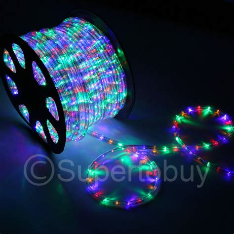 Outdoor Rope Lights Led Multi Rgb Led Rope 150ft 110v 2 Wire Diy Lighting Outdoor Ebay
