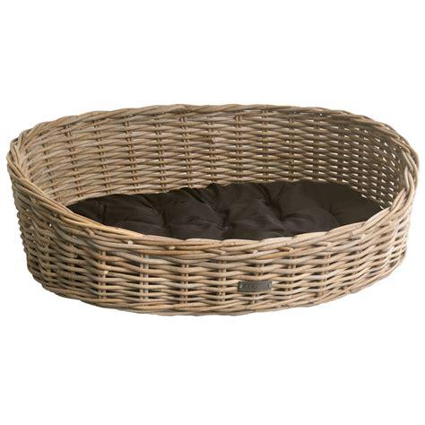 Wastepaper Basket Oval Grey Wicker Dog Basket In 3 Sizes