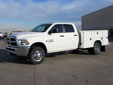 dodge work ram 3500 1 ton hd dually 4x4 utility service work
