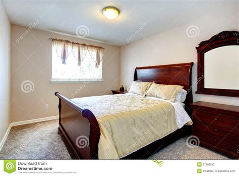 bright house bedroom furniture bright bedroom with cherry wood furniture stock photos