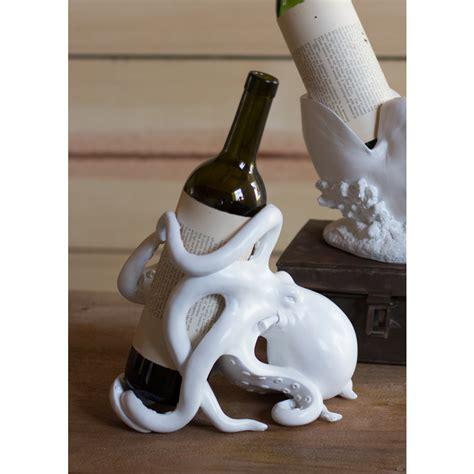 Coastal Kitchen Ideas octopus wine bottle holder