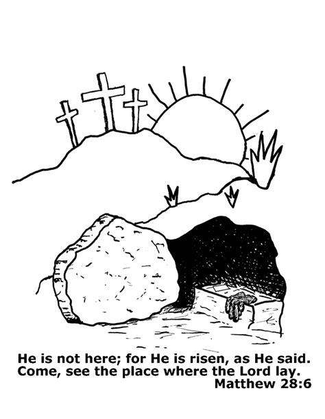 coloring page jesus empty tomb vbs ideas for gngn on pinterest sunday school crafts