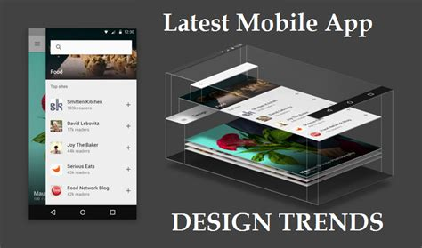 app layout trends the latest ui ux mobile app design trends 2016 krify