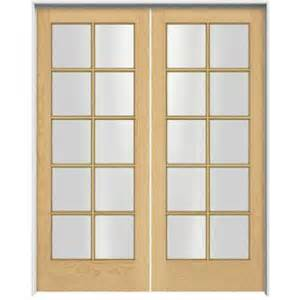 Home Depot Interior Double Doors Jeld Wen Woodgrain 10 Lite Unfinished Pine Prehung