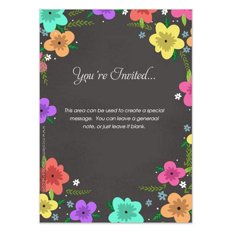 spring invitation template spring party invitations