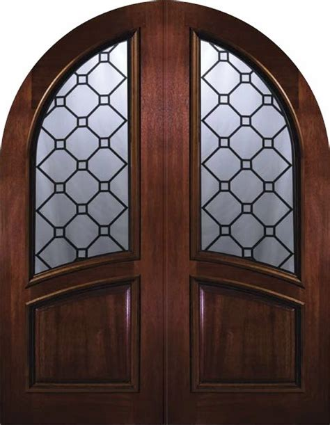 Exterior Slab Doors With Glass Slab Exterior Door 96 Wood Mahogany Casablanca Top Glass Mediterranean Front