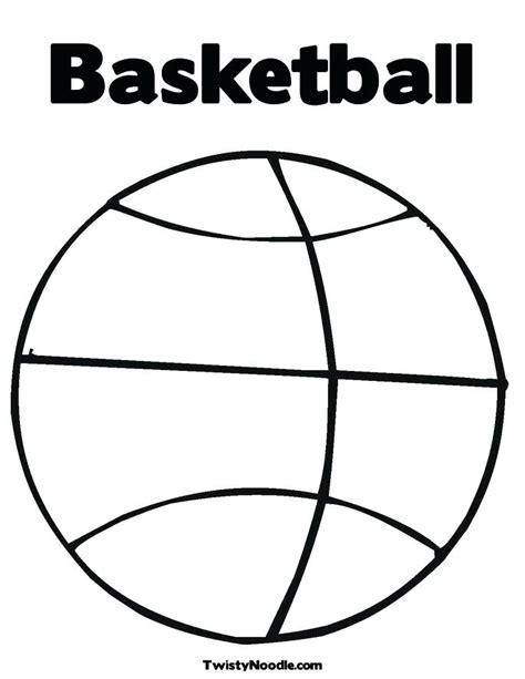 color hoop basketball hoop coloring page at getcolorings free