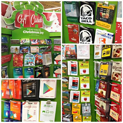 Fast Food Gift Cards - last minute gifts from walmart frugal upstate