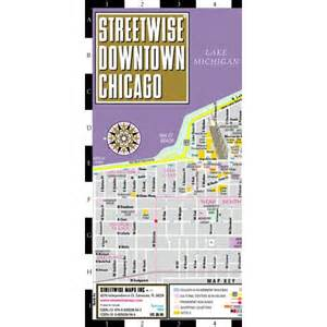 State Street Chicago Shopping Map by Streetwise Downtown Chicago Street Map Of Downtown
