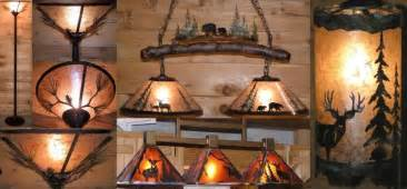 Chandelier Drum Lamp Shades Rustic Lighting Country Mountain Lodge Mica Designs