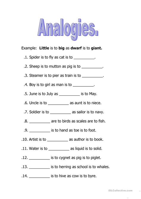 Free Analogies Worksheets by 301 Moved Permanently