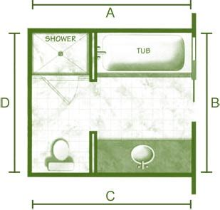 8x12 bathroom layout for the home on pinterest open floor plans metal roof