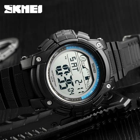 Jam Tangan Sporty Led Murah skmei jam tangan digital sporty pria 1372 blue