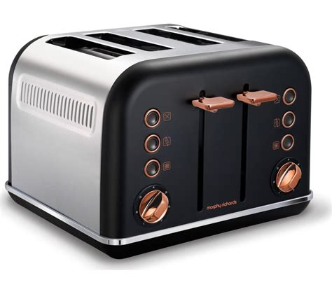 rose gold appliances buy morphy richards accents 242104 4 slice toaster black