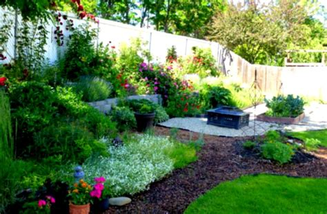 Landscape Design Ideas For Backyard Amazing Green Landscaping Ideas Mulch And Rock With Shrubs And Trees Homelk