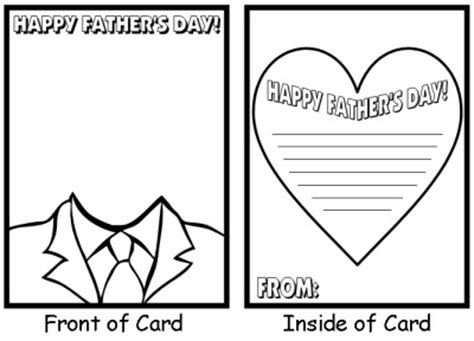 Free Printable Card Templates Fathers Day by Early Play Templates S Day Cards For To Make