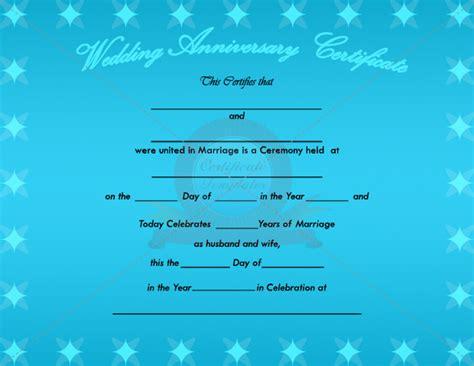 Wedding Anniversary Gift Certificate by 7 Best Images Of Anniversary Certificate Wedding