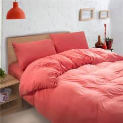 coral colored bedding sets coral pink solid color baby bedding duvet cover sets king