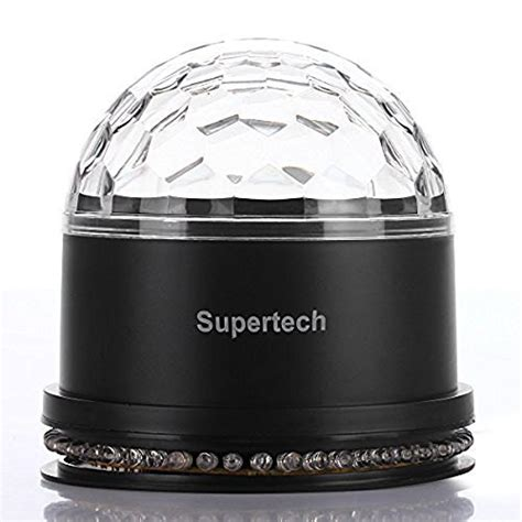 supertech led magic light supertech 12 color changes rgb sound actived 10w 2 in 1