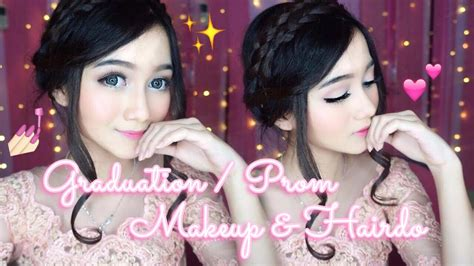 tutorial make up dan sanggul wisuda graduation prom makeup hairdo tutorial makeup
