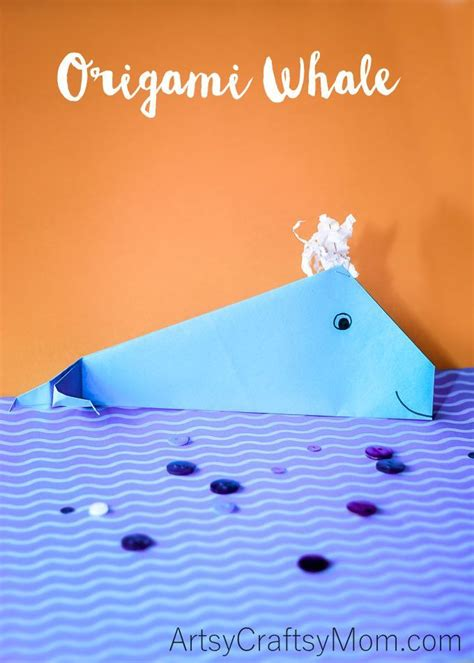 easy origami whale craft for artsy craftsy