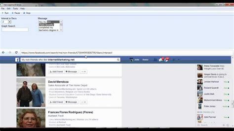 fb youtube auto message non friends based on graph search fb youtube