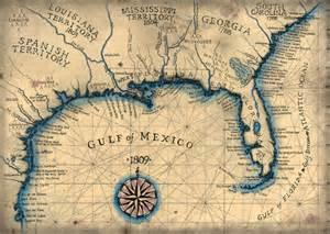 gulf coast 1809 southeast map 13 5 x 19