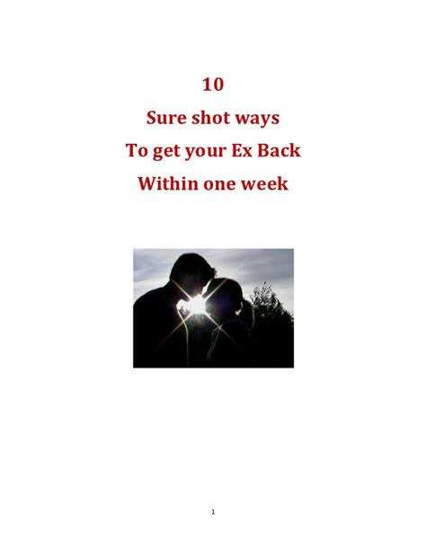 10 ways to get your ex back