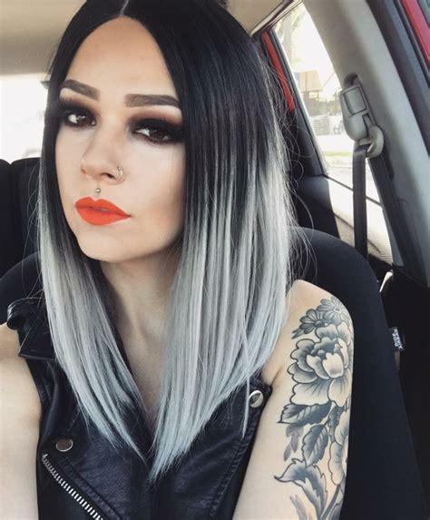 Ombre Look Grau by Damen Haarfarben Trends 2017 Was Ist Im Kommenden Jahr