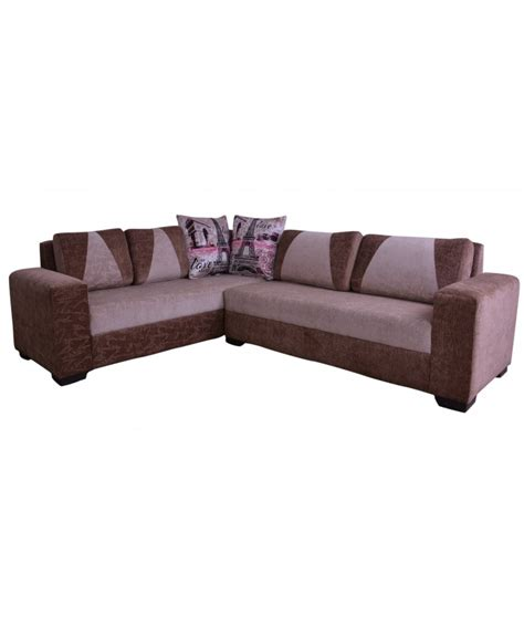 Designer Cushions For Sofas by Buy Wooden Designer Cushions L Shaped Sofa Set For