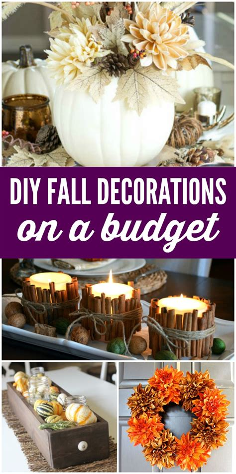 cheap fall decorations for home cheap diy fall decorations on a budget
