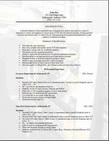 Machinist Resume Template machinist resume occupational exles sles free edit with word