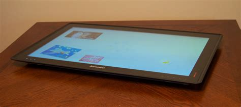 bluestacks tablet mode hands on with lenovo s crazy 27 inch horizon table pc