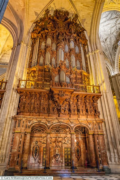 sevilles gothic cathedral spain  world