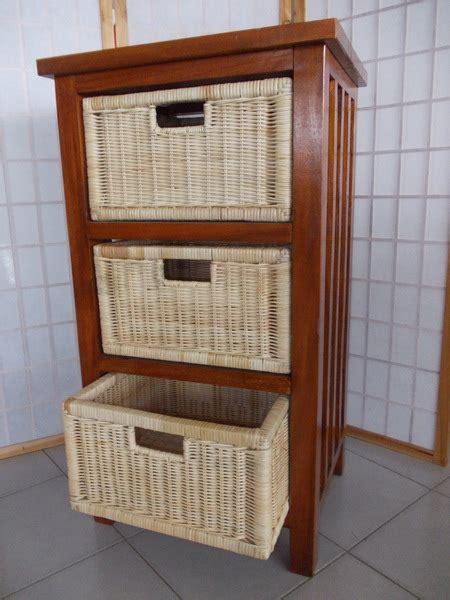 mobili midollino cassettiere in rattan midollino goinco bambu arredamento
