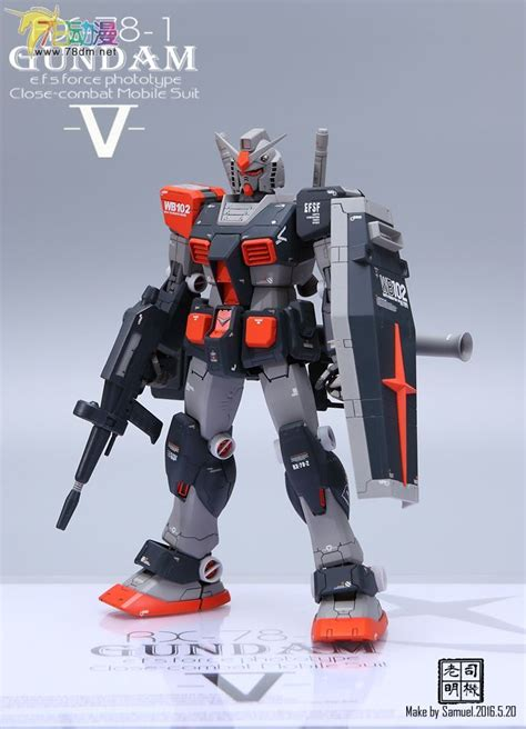 Kaos Gundam Mobile Suit 56 mg 1 100 rx 78 1 gundam oyw customized build modeled by samuel gundam gundam