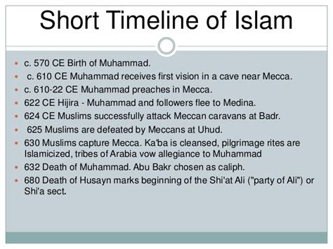 biography of muhammad the founder of islam image gallery islam religion timeline