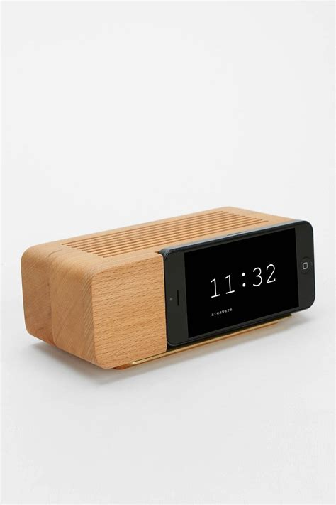 areaware iphone 5 5s alarm clock dock urban outfitters