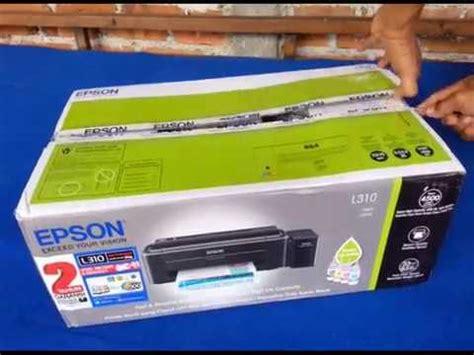 Tinta Printer Epson L310 unboxing printer epson l310 dan isi tinta