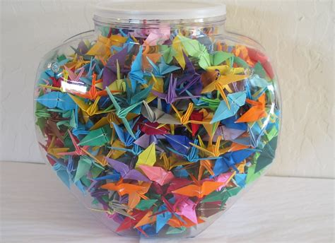 1000 Origami Paper - one thousand 1000 made 2 origami paper cranes by